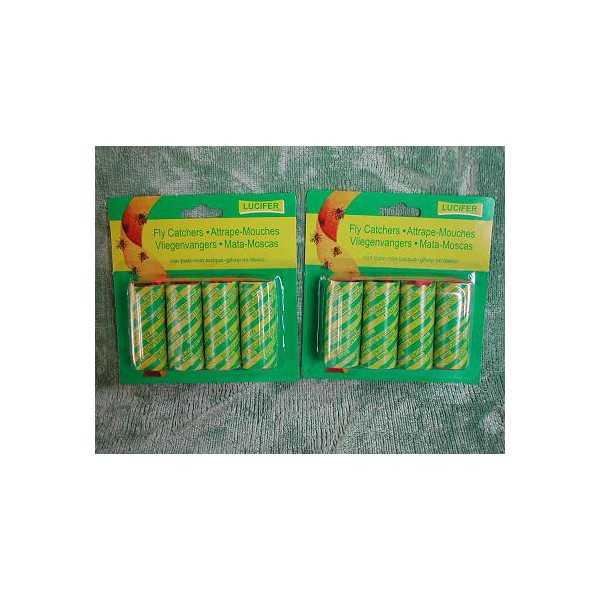 Lot de 24 rubans attrape mouches for Attrape mouche maison